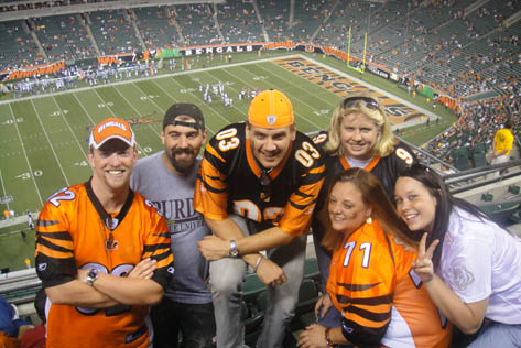 Some of the Bomb Squad inside the Jungle enjoying a victorious Who Dey Day!