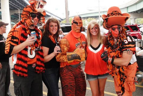 What the Bengal Bomb Squad is all about ... good friends, good family, and super fans!
